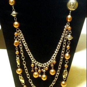 4/$15 Paparazzi necklace Brown/silver